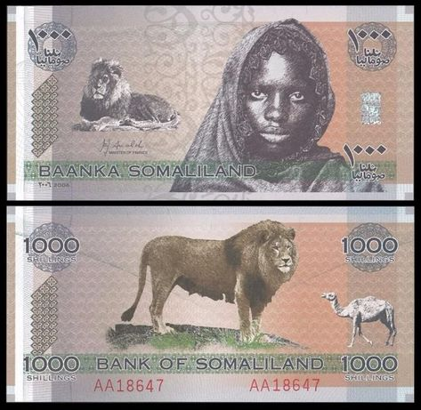 Сомалиленд 1000 шиллингов 2006г. UNC P-CS1