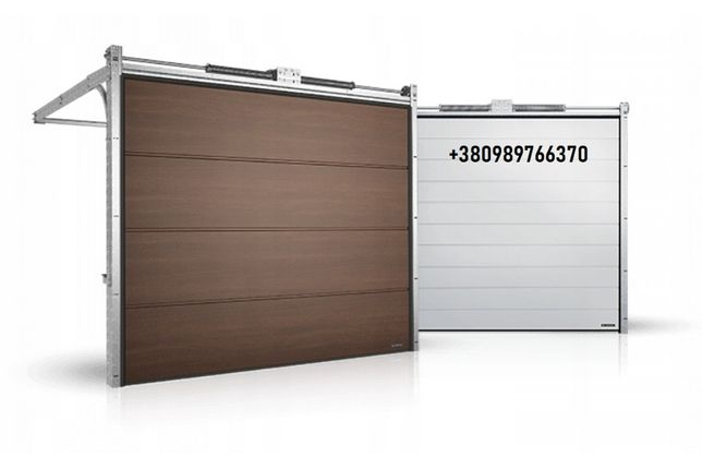 Гаражные секционные ворота с торсионным механизмом