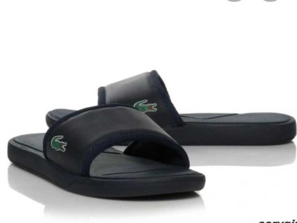 Lacoste Granatowe klapki sandaly klasyk logo tommy 40