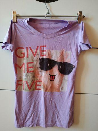 сиреневая футболка на девочку девчачья