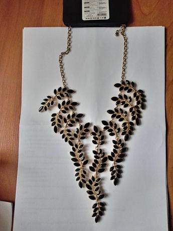 Naszyjnik złoto czarny