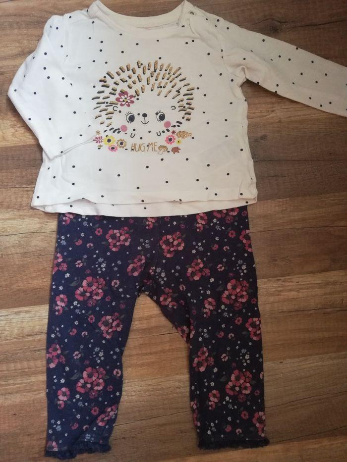 Komplet bluzeczka i spodenki dla dziewczynki rozmiar 68 Łagiewniki Małe - image 1