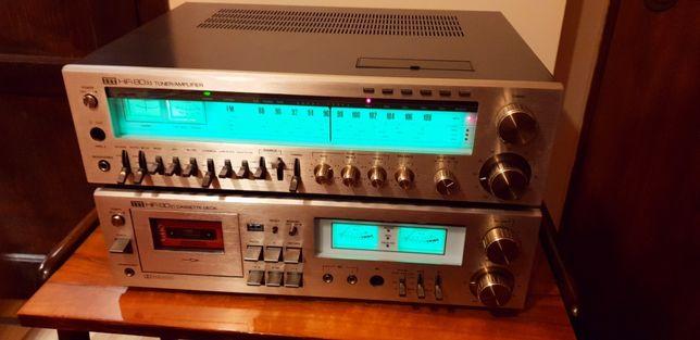Zestaw Stereo Hi-Fi ITT amplituner 8033,deck 8021,Vintage