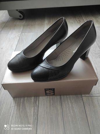 Skórzane czółenka 36 but s