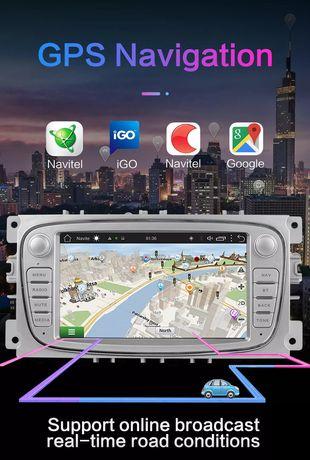 Rádio Android GPS ford focus, mondeo 4 kuga fiesta transit S-MAX C-MAX