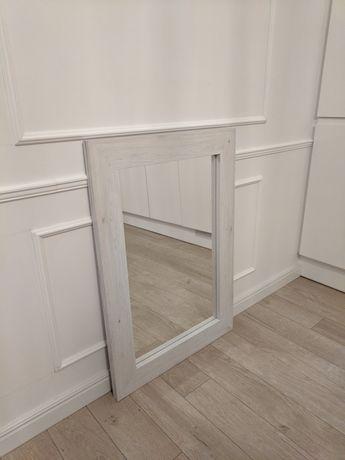 Lustro białe 86x60