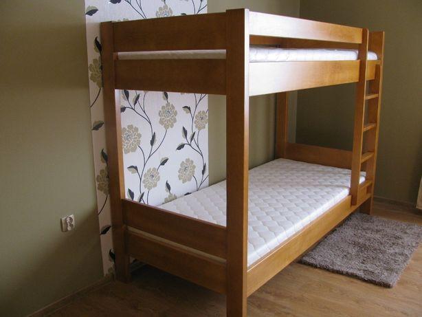 SOLIDNE drewniane łóżko piętrowe bukowe 100% buk PRODUCENT