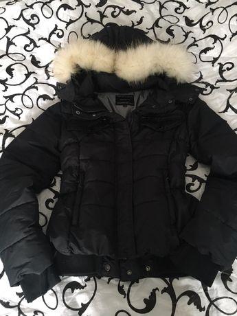 Nickelson kurtka damska czarna taliowana futerkiem L