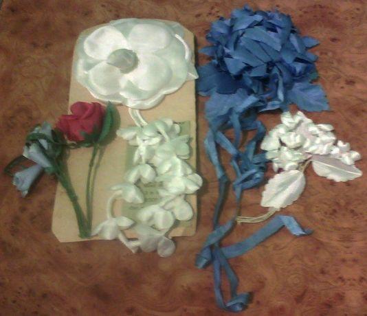 Цветы из ткани, материалы для рукоделия, творчества, hand made