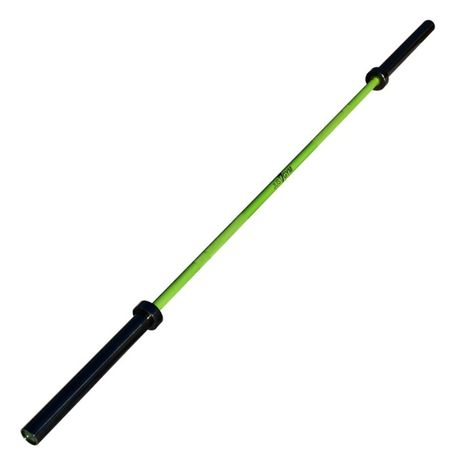 Gryf Olimpijski 20kg Titanium/Cerakote Just7Gym Zielony Sztanga Siłown