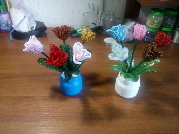 Карликовые тюльпаны из бисера