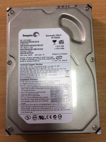 Жесткий диск Seagate 80Gb 7200rpm 2MB IDE