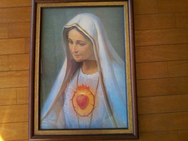 Vendo quadro do Sagrado Coração de Maria, pintado à mão