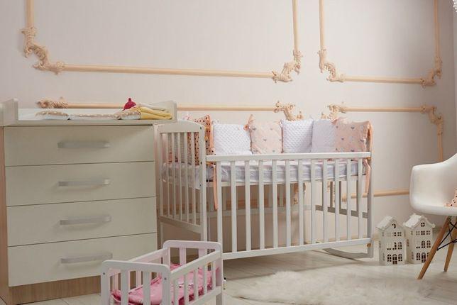 Новая детская кроватка Ameli. Белая.Опускная боковушка. Киев самовывоз