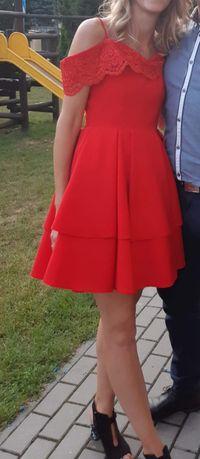 Czerwona sukienka Bicotone roz 36