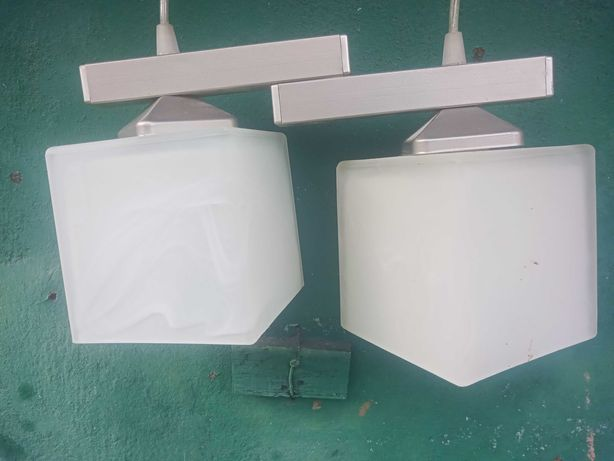 Lampa kuchenna jasny abażur