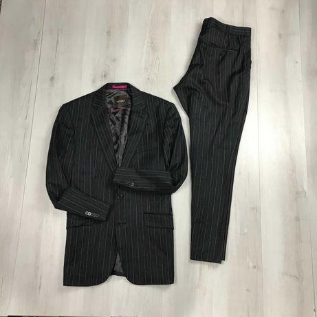 Костюм в полоску шерстяной приталенный пиджак брюки Moss Bespoke
