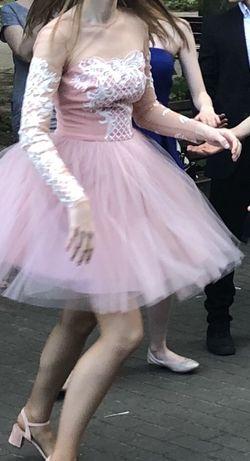 Sukienka Lou Pudrowy Róż
