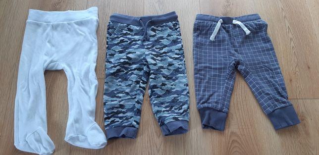 Spodnie i półśpiochy rozmiar 80
