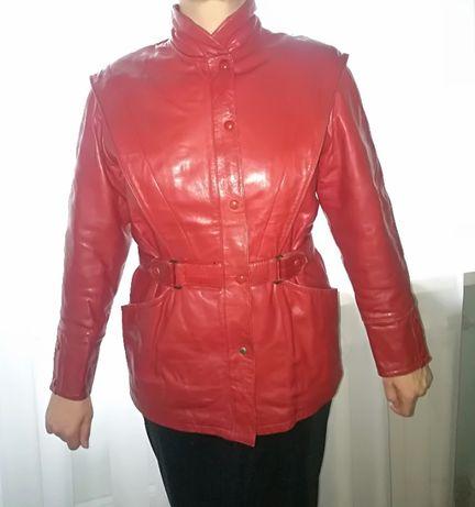 Брендовая кожаная курточка Breco's Италия, кожаная куртка, размер M