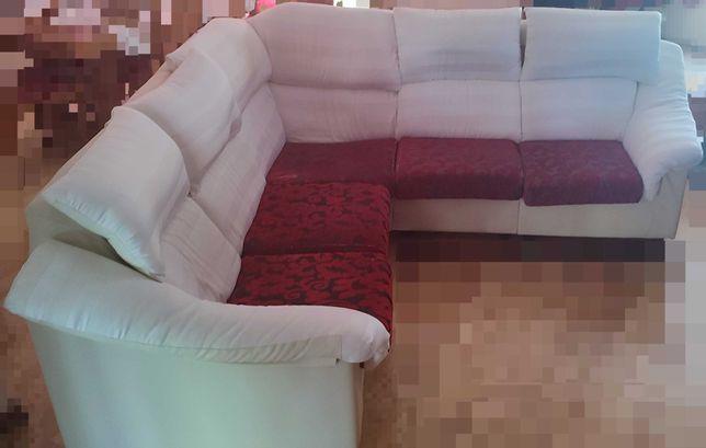 Sofá de canto de 4/5 lugares modular