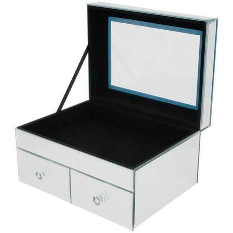 Szklana szkatułka pudełko na biżuterie XL