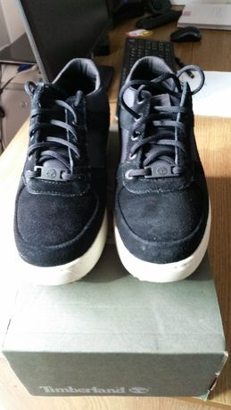 Botas Timberland Black Suede Lace Up Casual Shoes Size UK 7 (EU 41)