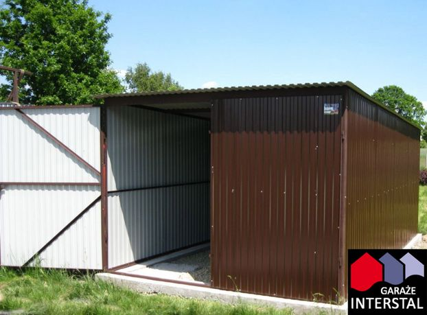 Garaże blaszane RAL Brąz 3x5 Garaż Blaszany Promocja Montaż Gratis!
