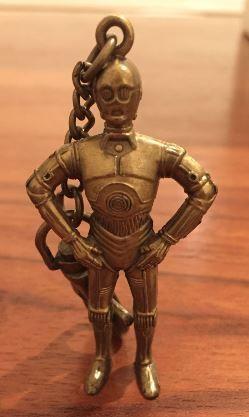 Porta-chaves de metal Star Wars C3PO 1995.