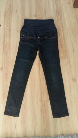 Jeansy ciążowe h&m, rozmiar 38.