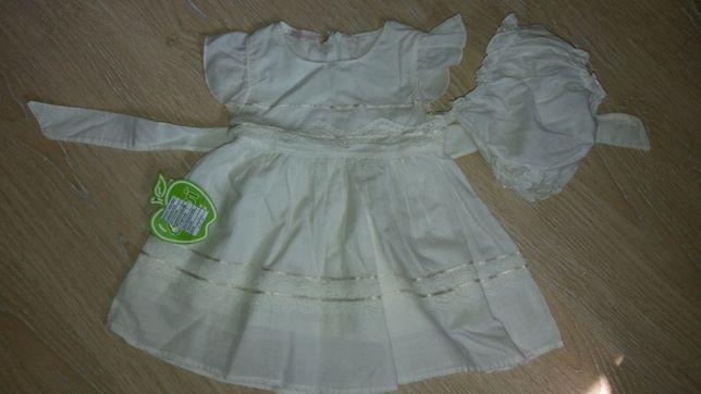 Летнее х/б платье Bebessi для принцессы (девочки) рост68см 6мес