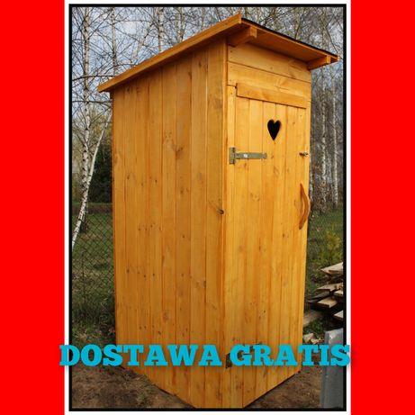 TANI WC, Toaleta,wychodek,szalet,kibel drewniany na działkę budowe ROD