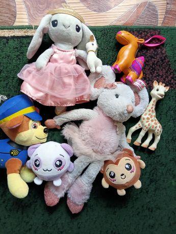 Лот игрушки набор мягкие оригинал красивые для девочки