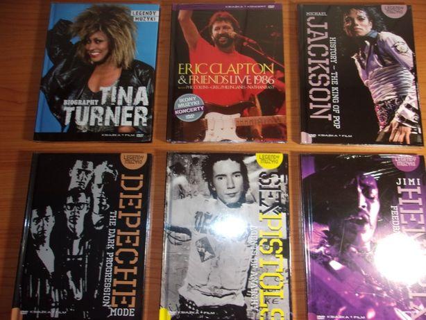legendy rocka dvd+ książka Tina Turner, Hendrix, M.Jackson, i inni