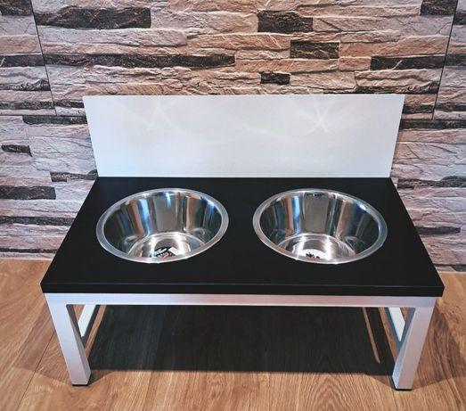 Stalowy stojak na miski , bufet dla psa , mały stojak, duży stojak XL