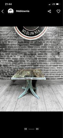 Meblownia stół kawowy ława drewniana marmur nr155