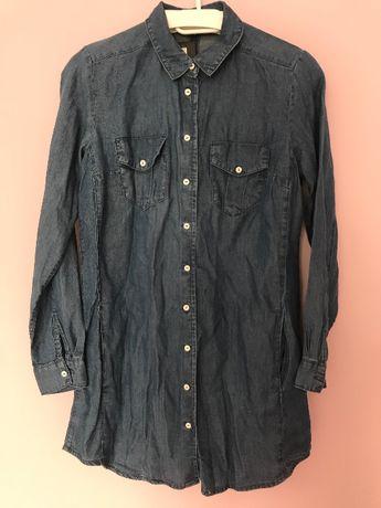 Koszula tunika jeansowa denim