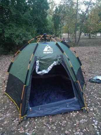 Палатка туристическая полуавтомат Hewolf
