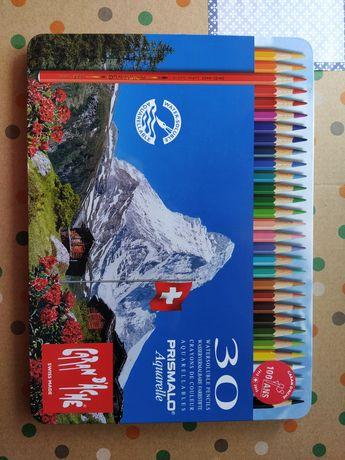 Caran d'Ache caixa metálica 30 lápis de cor Prismalo Aquarelle