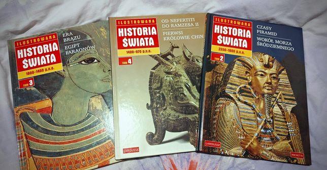 """""""Historia Świata"""" 3 części, twarda oprawa."""