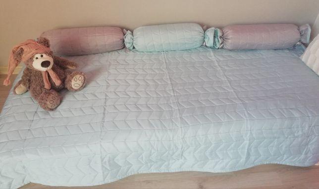 Kapa narzuta na łóżko dziecięce nowa poduszki firana zasłony panel