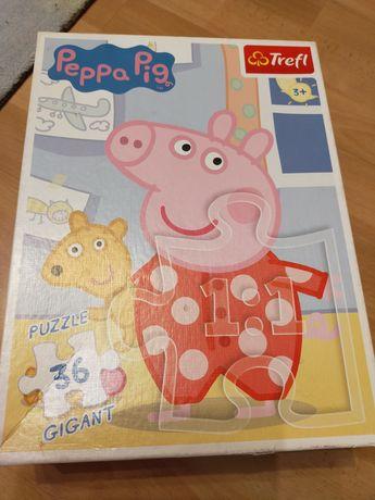 Puzzle Świnka Peppa duże