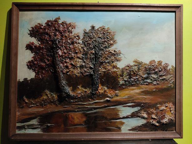 """""""Drzewa""""- wspaniały, trójwymiarowy obraz olejny!"""