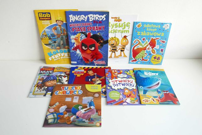 Książeczki , bajki , czytanki , kolorowanki dla dzieci - ZESTAW 9
