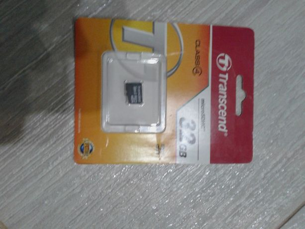 Продам карту памяти Transcend microSDHC 32 Гб class 4 [TS32GUSDC4]