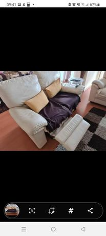 2 sofás em pele divani &divani