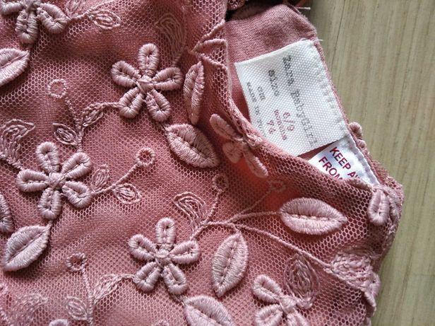 Nowa! Sukienka dla dziewczynki, rozmiar 74, Zara, różowa