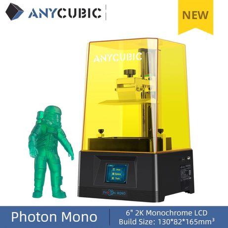 "В наявності!Anycubic photon mono 3d принтер новинка 2020 зона друку 6"""