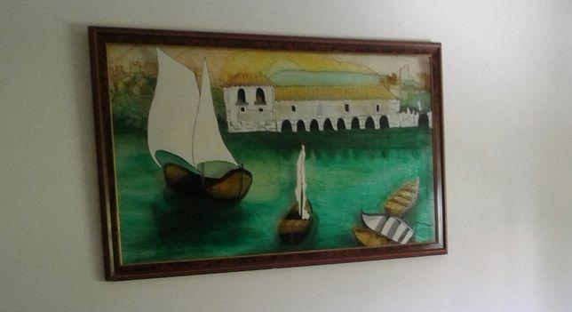 Moinhos marés SEIXAL Quadro, estilo vitral