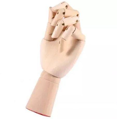 Деревянная рука манекен 18см модель держатель товара, для рисования